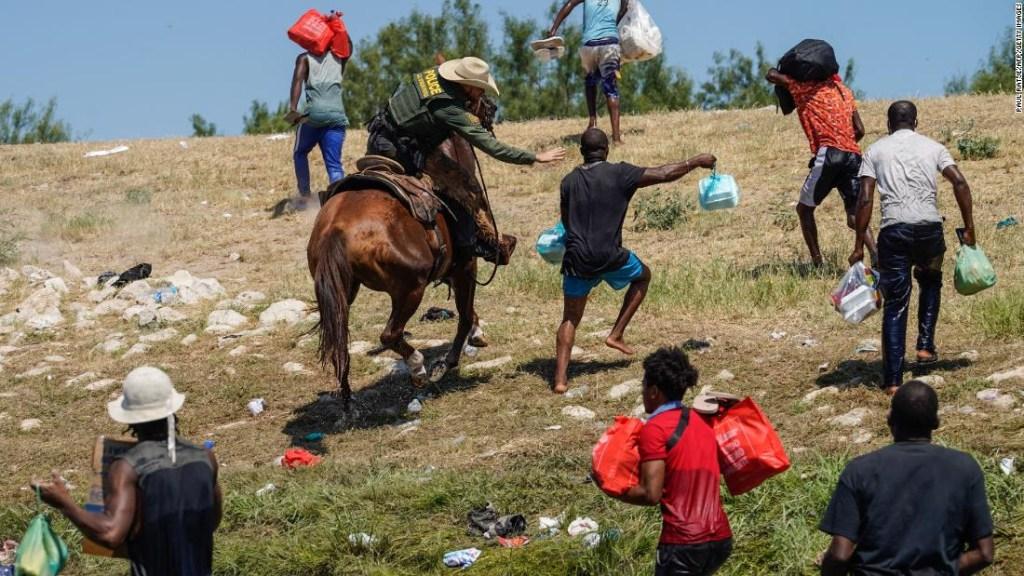 Una imagen de lo que vivieron inmigrantes haitianos en Del Rio