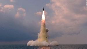 Corea del Norte confirmó que lanzó un misil desde un submarino