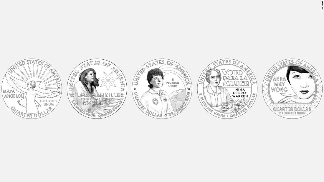 Desde Maya Angelou hasta Anna May Wong, estas mujeres pioneras aparecerán en monedas estadounidenses el próximo año
